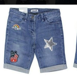 Tractr girl's denim shorts